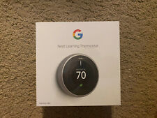 BRAND NEW SEALED - Nest Learning Thermostat - Stainless Steel (T3007ES)