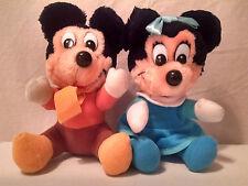 Disney Christmas Carol Minnie & Mickey Mouse Mrs. & Mr. Cratchit plush vintage