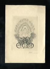 EXLIBRIS,370a, Georg Wimmer, Nackte Frau am offenen Buch steigend, 1938