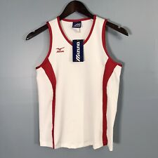 Mizuno Athletic Top Pullover New Women's Top Small Sleeveless White Red