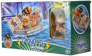 Pinypon Action - Speedboat Of Rescue Police With 1 Figurine Pin And Pon Novelty