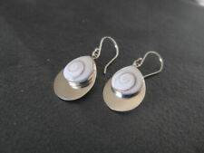 Balinese genuine 925 sterling silver with spiral shell earrings