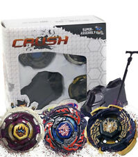 Crush Battling Game Tops Metal Fusion Starter Set | Launcher Included | 3 Set -