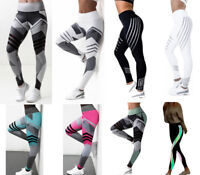 Women Yoga Leggings Fitness Sports Gym Exercise Running Jogging Pants Trousers B
