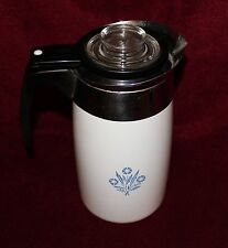 CORNING WARE Blue Cornflower 10 Cup Electric Percolator Coffee Maker / Pot