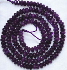 "Pretty 5x8mm Purple amethyst faceted abacus Gem loose beads 15"" JL556"