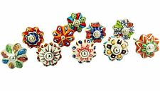 12 Mixed Color Handpainted Pumpkin Ceramic Knobs Kitchen Cabinet Hardware Knobs