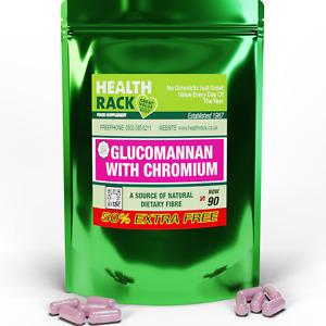 GLUCOMANNAN & CHROMIUM, slimming, weight loss, diet, sugar cravings  90 capsules