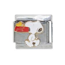 Snoopy with red bowl Italian Charm - fits 9mm classic Italian charm bracelets