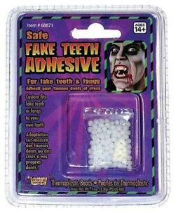 Safe Fake Teeth Replacement Adhesive Thermoplastic Beads Adult Costume Accessory