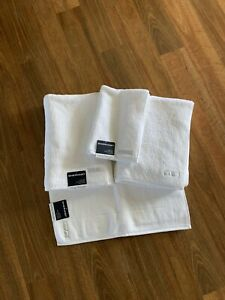 Sheridan Cotton Absorbent Bath Sheet Towel Set White New With Tags