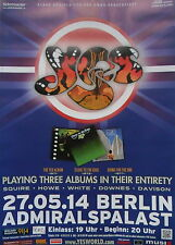 YES (Squire-Howe-White-Downes-Davison) Tour Poster BERLIN 27.05.2014