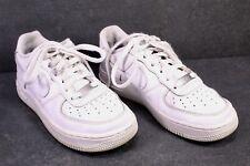 SB173 NIKE Air Force 1 Damen One Sportschuhe  Sneaker Gr. 37,5 Leder weiß