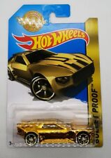 Hot Wheels 2016 MAIL IN EXCLUSIVE GOLD EDITION bullet proof CAR