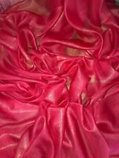 """1 MTR QUALITY RED/GOLD SHIMMER CHIFFON FABRIC...58"""" WIDE"""