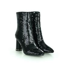 Women's Sexy Crystal High Heel Pointed Boots Sequined Yhick Heel Glitter Party