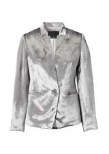 NWT Banana Republic Heritage Inverted Collar Grey Velvet Blazer Size 6