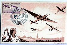 France carte maximum 1945 NAF45 CONGRES AVIATION FRANCAISE Yt 540