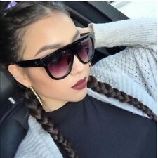 4946090901 Flat Top Oversized Shadow Shield Women DESIGNER Inspired Celebrity  Sunglasses