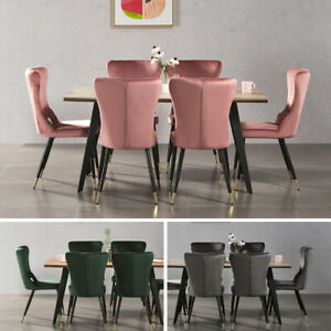 Luxury Rocco Dining Table 4 New York Velvet Chairs Kitchen Home Furniture