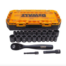 DEWALT 3/8 inch Drive Combination Deep Impact Socket Set Ratchet 23 Piece Tool