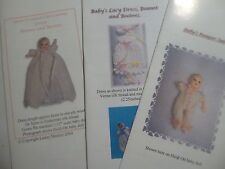 Knitting Patterns for 1:12 scale dollhouse baby doll (fits 2 inch doll) - SET 3