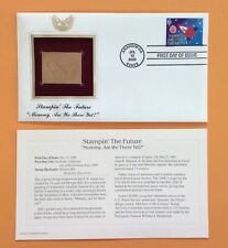 Stampin' the Future MOMMY, ARE WE THERE YET?  22k Gold Foil FDC Stamp Replica