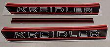 Kreidler RM RS RMC Aufkleber Tank Decor Schriftzug rot schwarz