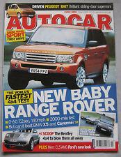 Autocar 5/4/2005 featuring Range Rover Sport, Porsche, Vauxhall Monro, BMW X5
