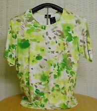 Angesagtes Damen Shirt H.S. GINA G. Rundhals Halbarm Grüntöne Größe: 44