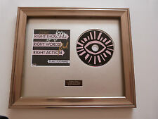 SIGNED/AUTOGRAPHED FRANZ FERDINAND-RIGHT THOUGHTS RIGHT WORDS FRAMED CD