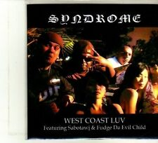 (DU338) Syndrome - West Coast Luv ft Sabotawg & Fudge Da Evil Child - DJ CD