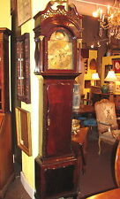Antique English Mahogany Chippendale Tall Case Clock circa 1770