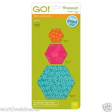 """AccuQuilt & Baby GO! Hexagon-2"""", 3"""", 5"""" Fabric Cutting Die 55011 Quilting Sewing"""