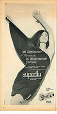 PUBLICITE ADVERTISING 034   1962   SUPËRFLU   créme dépilatoire parfumée 2