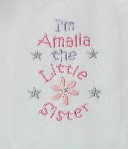 Cute Little Sister sleepsuit  - can be personalised