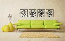 Sohabah name Abubak,Umar,Usman,Ali, Islamic Calligraphy Wall sticker # 4