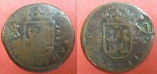 ESPAGNE - 12 MARAVEDIS Surfrappé sur monnaie de 8 MARAVEDIS 1641 sur 1617 - RARE