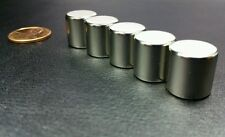 "5 Neodymium N52 Cylinder Magnets Super Strong Rare Earth Disc 1/2"" x 1/2"""