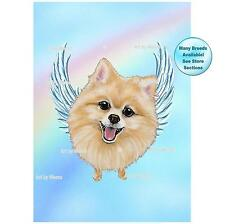 Pomeranian Angel Art Picture Dog Memorial Pet Loss Gift Rainbow Bridge
