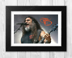 Tom Araya Slayer A4 signed photograph picture poster Choice of frame