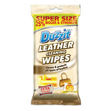50 Duzzit Jumbo Leather Cleaning Wipes Sofa Car Seat Bags Jackets Protects