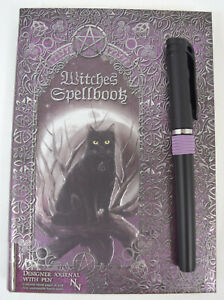 Nemesis Now Witches Spellbook Black cat & Moon Hardcover Journal Gothic Gift