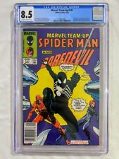 MARVEL TEAM-UP #141 CGC 8.5 GRADED SPIDER-MAN FIRST BLACK SUIT NEWSSTAND KEY