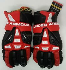 "New Under Armour Charge 2 Red Sz: Medium 12"" Lacrosse Gloves (Retail $190)"