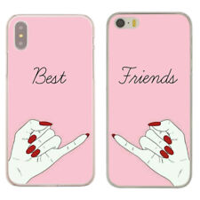 Couple Matching Best Friend Forever Lovers Hard Cover Case For iPhone Huawei New