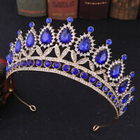 Queen Bridal Crystal Pageant Prom Crown Wedding Headband Tiara Headpiece jewelry