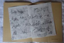 HERGE TINTIN Portfolio  2 planches L'ALPH-ART Editions ROMBALDI années 80