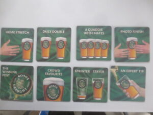 complete set of 8  BOAGS Draught / Melbourne Cup Carnival Issue BEER COASTERS