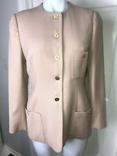 Sonia Rykiel  Woman's Jacket Beige Collar Work Office  ~ Sz M ~ STYLISH ~